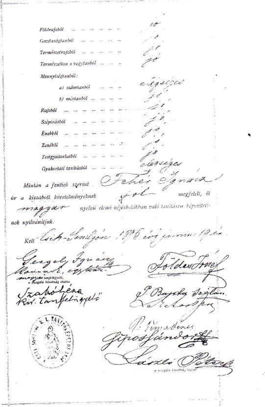 Fehér Ignác feleségével Gerzsány Emmával és gyermekeikkel: Emmával, Lászlóval és Gézával 1903-ban